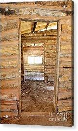 Interior Of A Pioneer Cabin Acrylic Print