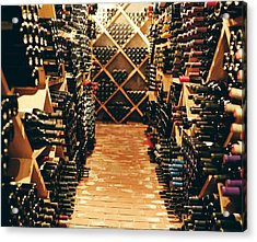 Interior Of A Wine Cellar Acrylic Print by Joao Canziani