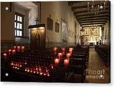 Interior Old Mission Acrylic Print by Bob Christopher