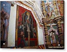 Interior Wall San Xavier Del Bac Mission Acrylic Print