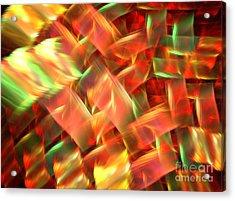 Interlocking Acrylic Print by Kim Sy Ok