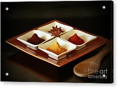 International Kitchen Spices Acrylic Print by Inspired Nature Photography Fine Art Photography