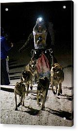 International Pedigree Stage Stop Sled Dog Race Jackson Hole Wy Acrylic Print
