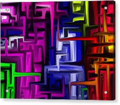 Interplex Acrylic Print by Jennifer Galbraith