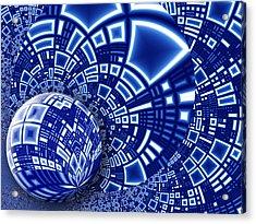 Interstellar City Acrylic Print by Pam Blackstone