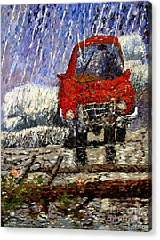 Into The Epochal Storm Acrylic Print by Charlie Spear