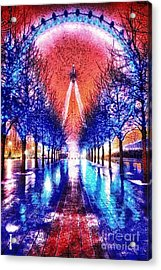 Into The Eye Acrylic Print by Mo T