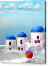 Into The Heavens Santorini Acrylic Print