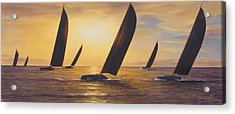 Into The Sunset - Panoramic  Acrylic Print by Diane Romanello