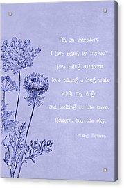 Introvert Acrylic Print by Tia Helen
