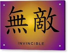 Invincible Acrylic Print