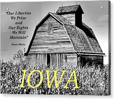 Acrylic Print featuring the photograph Iowa Pride by Lin Haring