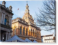 Ipswich Town Hall Acrylic Print by Andrew  Michael