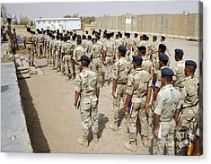 Iraqi Air Force College Cadets March Acrylic Print by Stocktrek Images