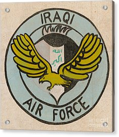 Iraqi Air Force Crest Acrylic Print by Unknown