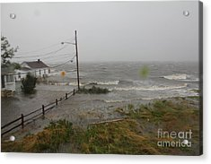 Irene And The Great South Bay Acrylic Print by Scenesational Photos