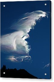 Iridescent Cloud Wave Acrylic Print by Amelia Racca