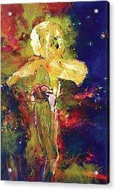 Iris Cosmic Acrylic Print by Petro Beva