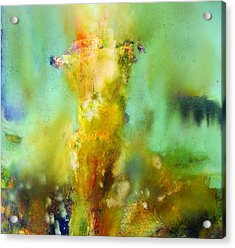 Iris Radiance Acrylic Print by Petro Bevza