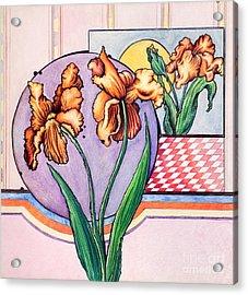 Iris Reflection Acrylic Print