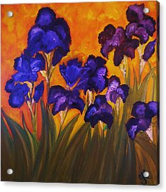 Irises In Motion Acrylic Print
