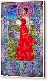 Irish Celtic Fantasy Art Print - Boann Bru Na Boinne Acrylic Print by Jim FitzPatrick