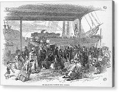 Irish Emigration Acrylic Print by Granger