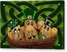 Irish Potatoes Acrylic Print by Trudy Wilkerson