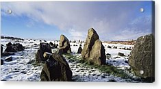 Irish Snow Scenes Co Tyrone, Beaghmore Acrylic Print by The Irish Image Collection
