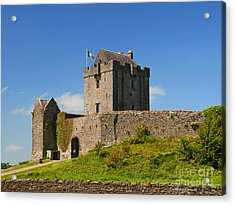 Irish Travel Landscape Dunguaire Castle Ireland Acrylic Print by Nature Scapes Fine Art