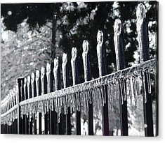 Acrylic Print featuring the photograph Iron And Ice 1 by Elizabeth Sullivan