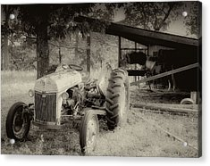 Iron Workhorse In Sepia Acrylic Print by Tony Grider