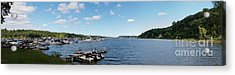 Acrylic Print featuring the photograph Irondequoit Bay Panorama by William Norton