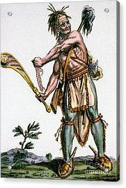 Iroquois Warrior Acrylic Print by Granger