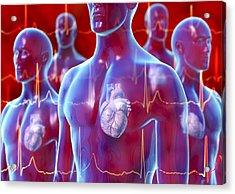 Irregular Heartbeat, Conceptual Artwork Acrylic Print by David Mack