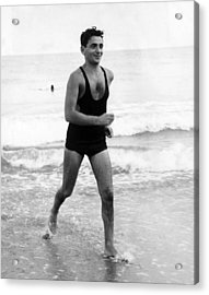 Irving Berlin At The Beach In Palm Acrylic Print by Everett