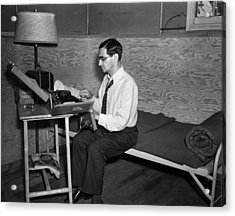 Irving Berlin Rehearses Acrylic Print by Everett