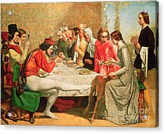 Isabella Acrylic Print by Sir John Everett Millais