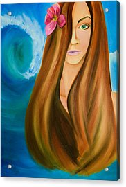Island Beauty Acrylic Print by Chris  Leon