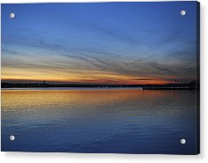 Island Heights At Dusk Acrylic Print by Terry DeLuco