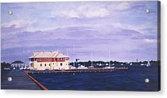 Island Heights Yacht Club Acrylic Print by Robert Henne