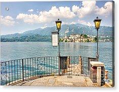 Island San Giulio On Lake Orta Acrylic Print