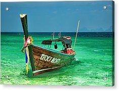 Island Taxi  Acrylic Print by Adrian Evans