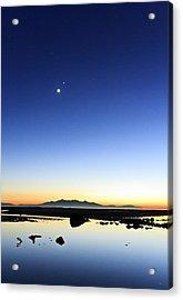 Isle Of Arran Sunset Acrylic Print by Fiona Messenger