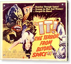 It The Terror From Beyond Space, 1958 Acrylic Print by Everett