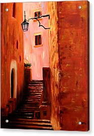 Acrylic Print featuring the painting Italian Alley by Suzzanna Frank