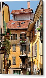 Italian Balconies Acrylic Print by Malu Couttolenc
