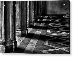 Italian Columns In Venice Acrylic Print by McDonald P. Mirabile