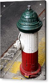 Italian Fire Hydrant Acrylic Print by Sophie Vigneault