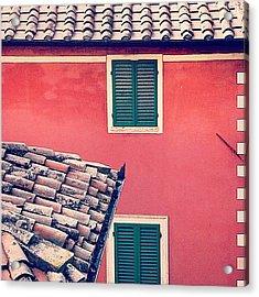 Italian Geometry #house #shutters Acrylic Print
